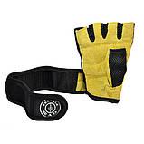 Перчатки для тяжелой атлетики GYM Fitness с напульсником. Перчатки атлетические, универсальные., фото 2