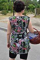 Туника майка женская Дачница рисунок лилия, фото 2