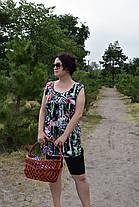Туника майка женская Дачница рисунок лилия, фото 3