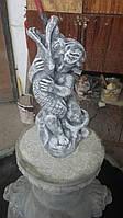 Скульптура. Мальчик с рыбой.