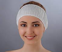 Повязка для волос одноразовая (спанбонд) Doily 10 шт/уп Белая