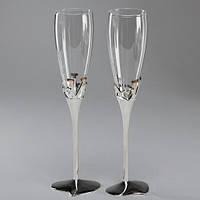 """Необычные бокалы на свадьбу для молодоженов """"Love"""""""