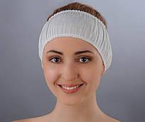 Повязка для волос одноразовая (спанбонд) Doily 10 шт/уп 100 ШТ 10 УП Белая