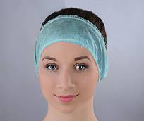 Повязка для волос одноразовая (спанбонд) Doily 10 шт/уп 100 ШТ 10 УП Мятная