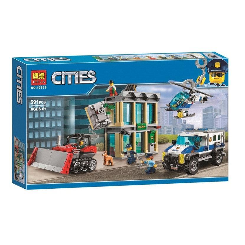 """Конструктор Bela 10659 """"Ограбление на бульдозере"""" (аналог Lego City 60140), 591 дет"""