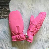 Детские краги для девочек розовые