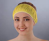 Повязка для волос одноразовая (спанбонд) Doily 10 шт/уп Желтая