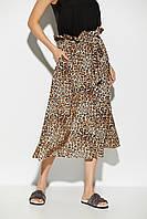 Летняя юбка миди с леопардовым принтом, фото 1