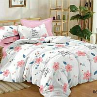 Детский комплект постельного белья для девочки розовый цветочки
