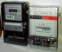 Популярные электронные однофазные харьковские электросчетчики СОЕА09М2 (старая модификация) и СИСТЕМА ОЕ-009 NFH (новая модификация)