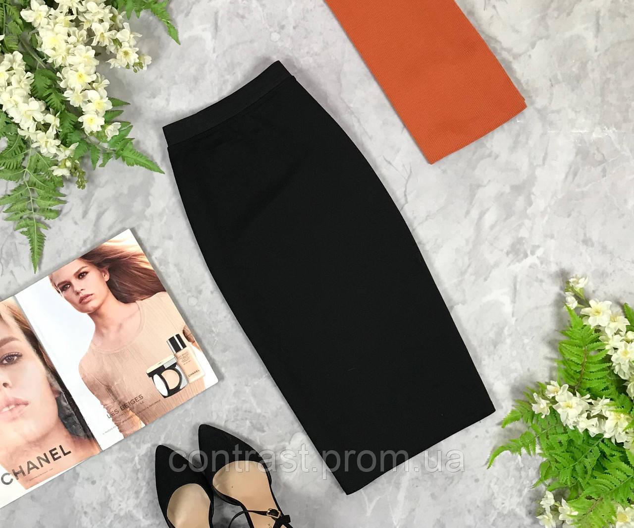 Базовая трикотажная юбка  KI1928001