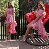 Женское хлопковое платье с *хвостом*