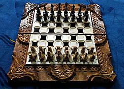 Шахи-нарди-шашки 3 в 1 зі скринькою для фігур, фото 2