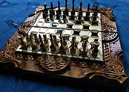Шахматы-нарды-шашки 3 в 1 со шкатулкой для фигур, фото 3