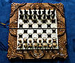 Шахматы-нарды-шашки 3 в 1 со шкатулкой для фигур, фото 2