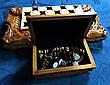 Шахи-нарди-шашки 3 в 1 зі скринькою для фігур, фото 6
