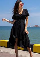 Платье летнее ( пляжное на запах ), цвет - чёрный , размеры : 42 44 46 k-55680