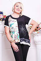 Женская блуза с удлиненной спинкой в 2х цветах CI Мариса, фото 1