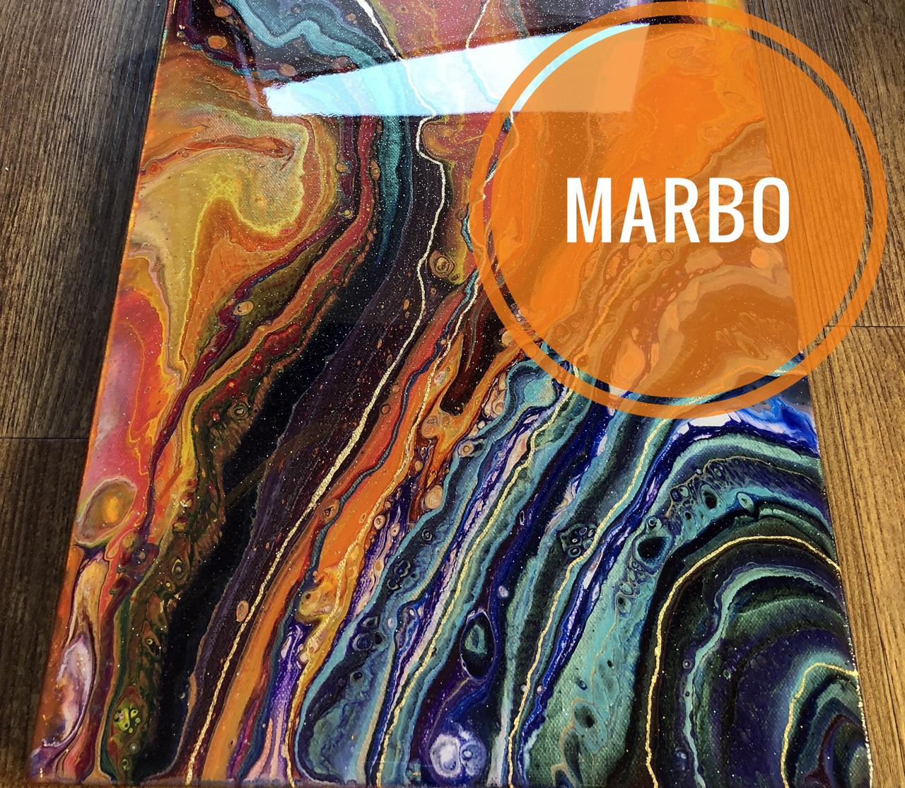 Оранжевый краситель пигмент для смол Марбо Marbo (Италия), для смол и полиуретанов,концентрат. Уп-ка на выбор: