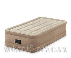 Надувне ліжко Intex 64456, 99 х 191 х 46 , вбудований електронасос
