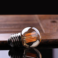 Прозрачная лампочка Filament  4Вт Е27 G45, 2700-3000K