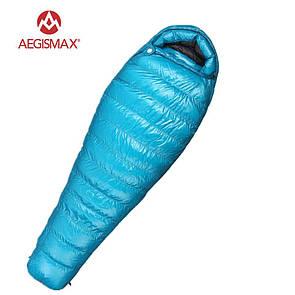 Пуховый спальный мешок AEGISMAX M3. 0°C -5°C. 800 FP Размер M. Пуховий спальний мішок nano.