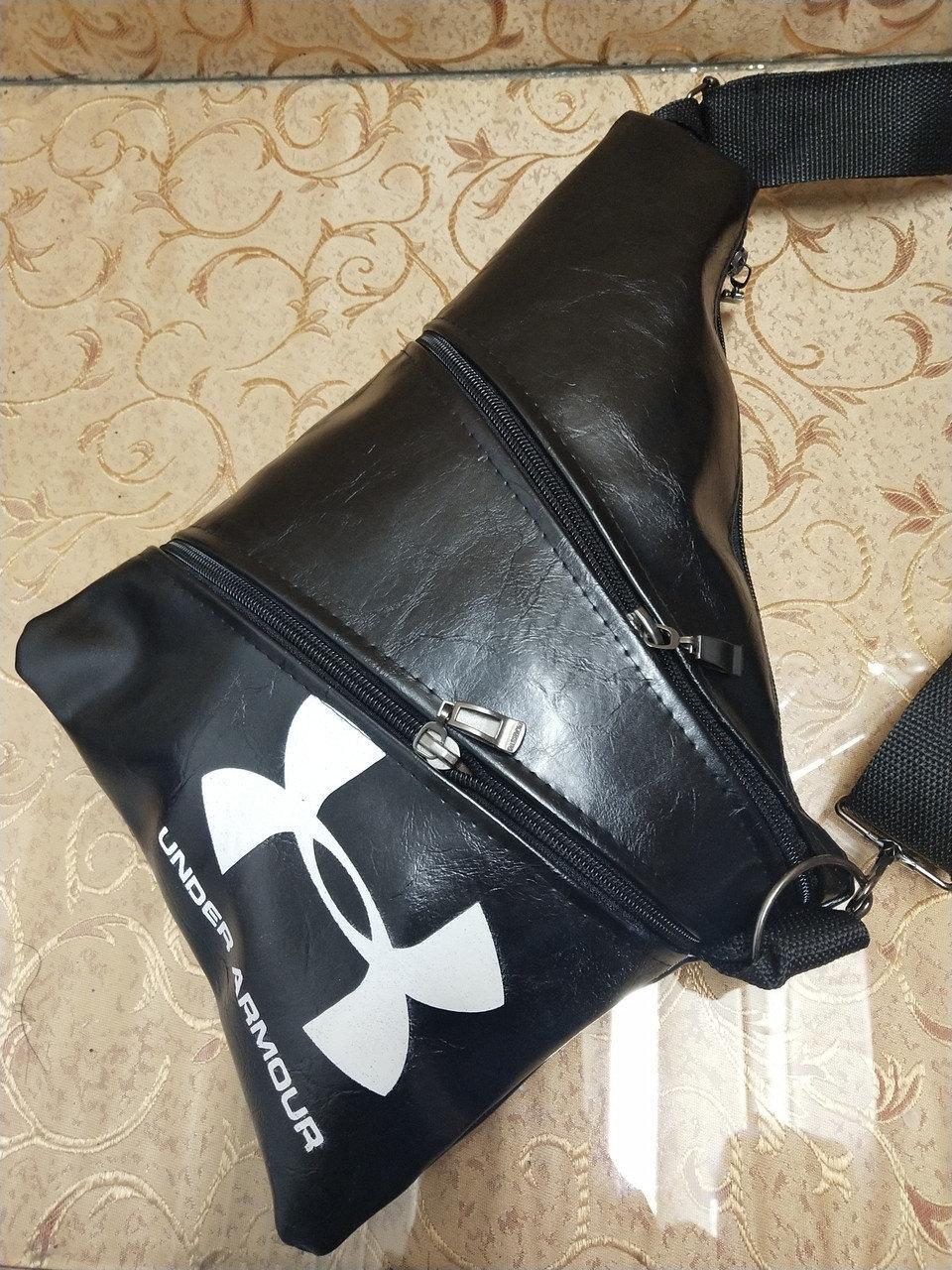 Мужская сумка через плечо, цвет - черный