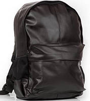 Городской рюкзак кожаный, кожаный рюкзак черный, фото 1