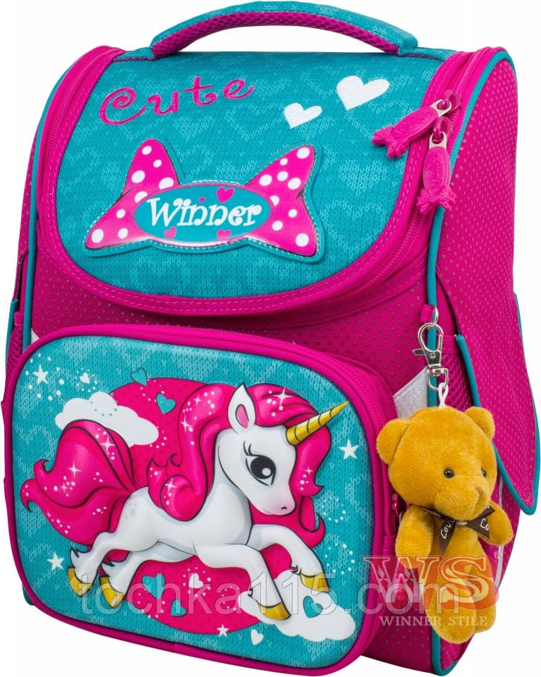 Школьный ранец с ортопедической спинкой раскладушка для девочек