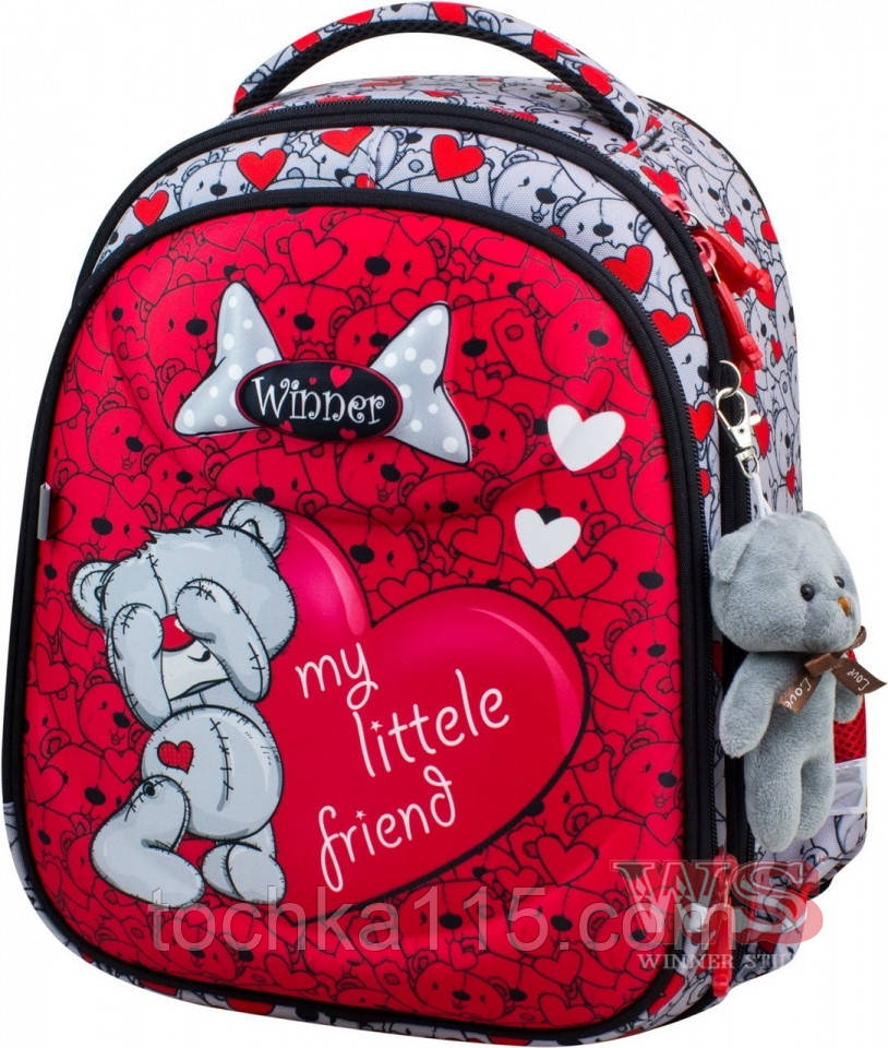 Школьный ранец с ортопедической спинкой, для девочек