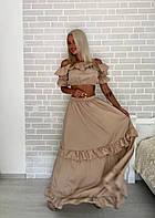 Костюм женский топ и юбка с воланом  ио361, фото 1