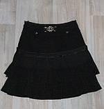 Юбка на девочку в школу черная арт 32136 размер 12, фото 7