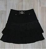 Юбка на девочку в школу черная арт 32136 размер 12, фото 8