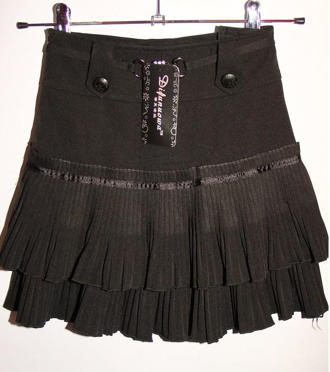 Юбка на девочку в школу черная арт 32136 размер 12