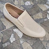 Мужские летние туфли. Бежевые.