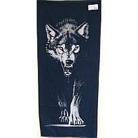 Полотенце Речица Волк махровое жаккардовое 67*150см