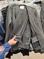 Костюм Графиня, 140-158, сірий, чорний, синій