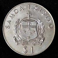 Монета Самоа и Сисифо 1 доллар 1980 г. Олимпиада  в Москве. Бег с барьерами