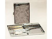 Портсигар с USB-зажигалкой на 20 сигарет с металлическим держателем