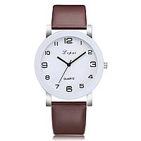 Женские наручные часы Lvpai 80614-2   Белые с коричневым ремешком