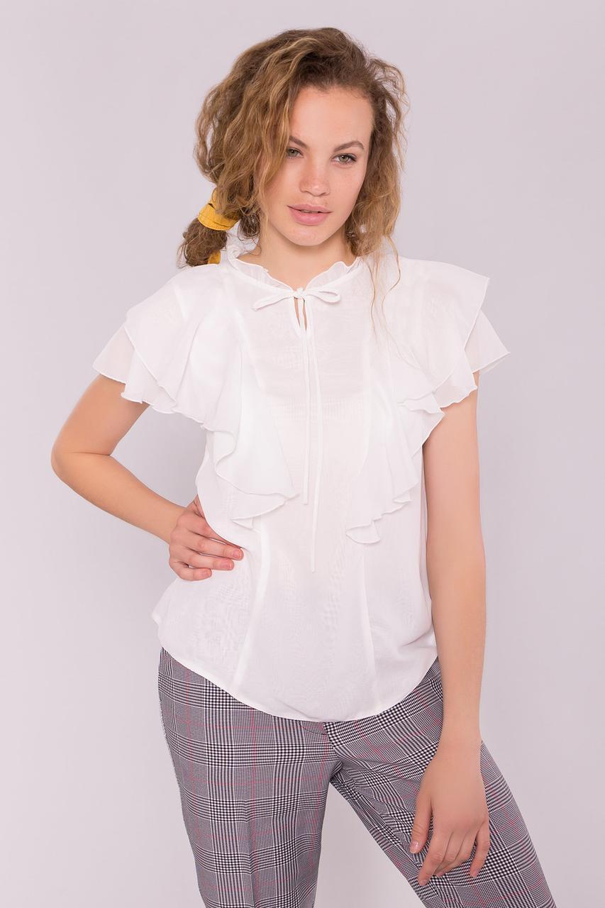 Блуза шифоновая Дайан Лайт с рукавами крылышками