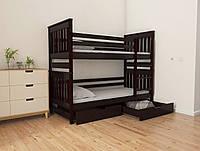 """Двухъярусная кровать трансформер деревянная """"Адель Duo"""" 80*160 размеры бук массив, фото 1"""