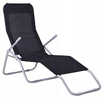 Садовое кресло шезлонг Charlie складное Черное, фото 1