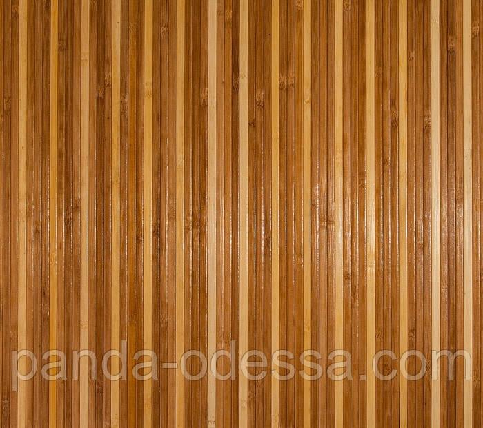 """В пределах отрезка 1,2 м.п. / Бамбуковые обои """"Полосатые 3+1"""", п, 8/8 мм, высота рулона 1,5 м"""