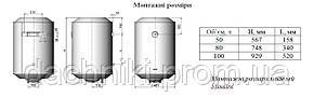 NOVA TEC STANDARD NT-S-100 БОЙЛЕР (ВОДОНАГРЕВАТЕЛЬ 100 ЛИТРОВ), фото 2