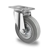 Поворотное колесо диаметром 80 мм из стандартной серой резины