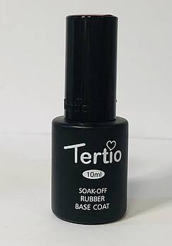 Каучуковая база Tertio Rubber Base, 10 мл (Soak-Off Rubber Base coat)