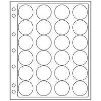 Лист ENCAP для монет в капсулах В наличии от 18 мм до 46 мм