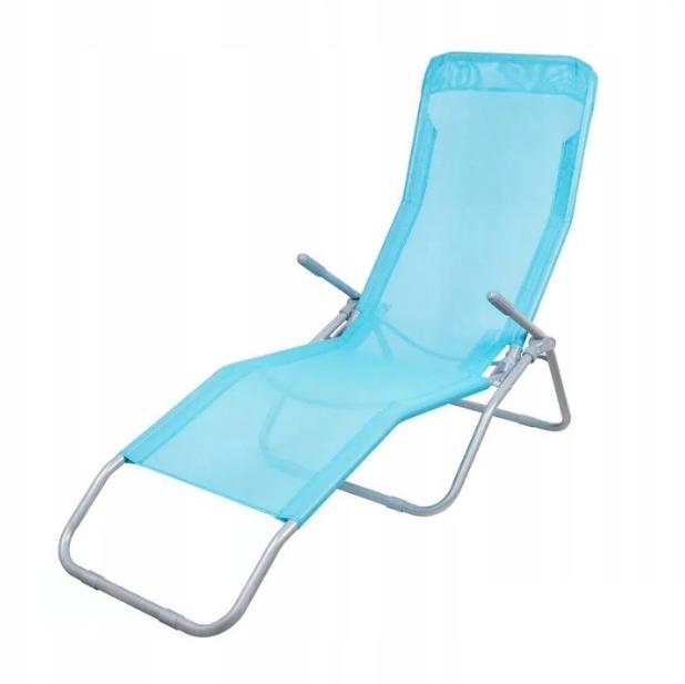 Садовое кресло шезлонг Charlie складное Голубое