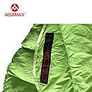 Пуховый спальный мешок AEGISMAX UL-Wing GREEN. +11°C +6°C. 800 FP. Размер  M. Пуховий спальний мішок кокон., фото 6